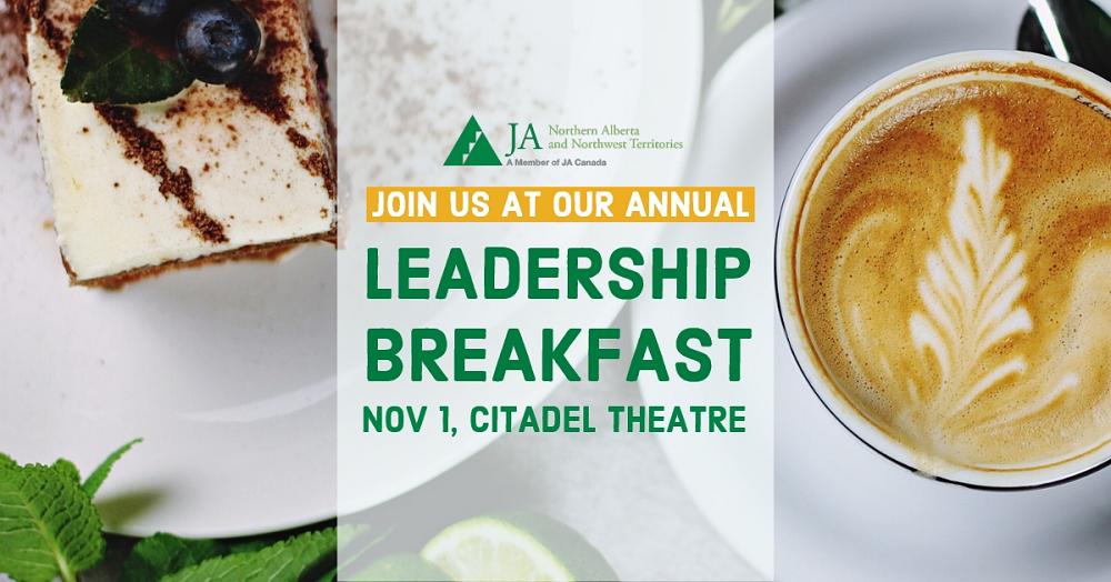 JA Northern Alberta's Leadership Breakfast event